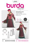 2509 Burda Pattern: Misses' Lady of the Castle Costume